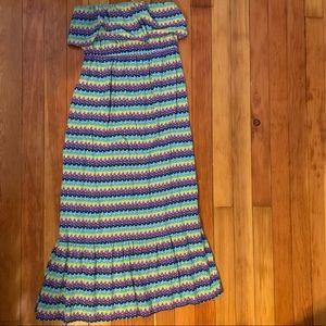 Massimo Tribal Print Maxi Dress LG